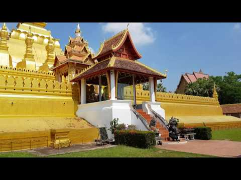 Thatluang golden stupa laos