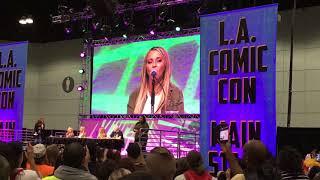 Powerpuff Girls Voice Bonanza Tara Strong EG Daily Tom Kane Sing Stan Lee's LA Comic Con 2017