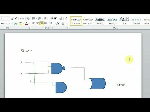 Draw logic gate with Microsoft Word