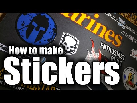 Stickers - How to make real vinyl stickers - HD