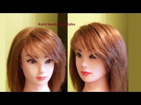 Bangs haircut on the side | Easy Side Bangs haircut tutorial & How to style a fringe on the side