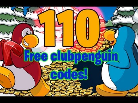 Club penguin - 110 Free Clothing/Coin Unlockable Codes For Everyone to use! (55,000 free coins)