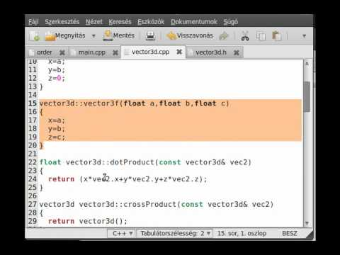 FPS game (OpenGL,SDL,C++) tutorial 1 - vector3d class