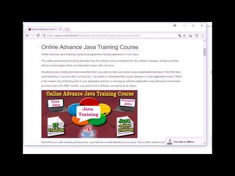 Online Advance Java Training Course