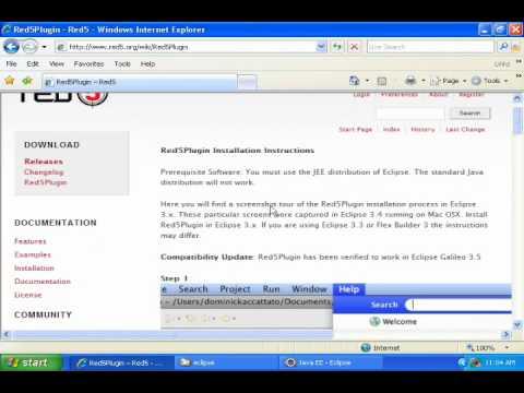 11- Install Red5plugin on Windows