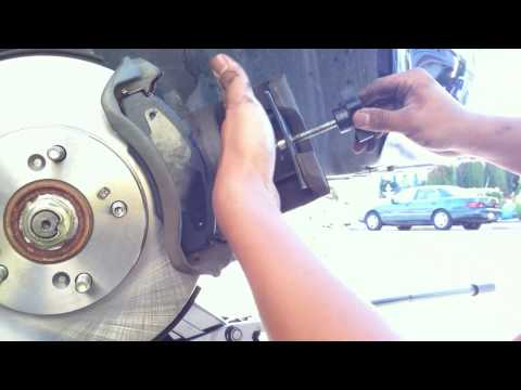How To Install - Honda prelude replace brake pad and rotors