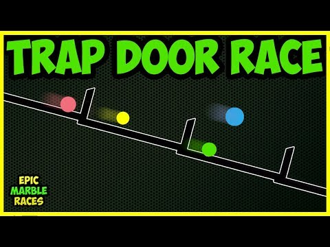 Trap Door Marble Race - Who Will win? Algodoo Race