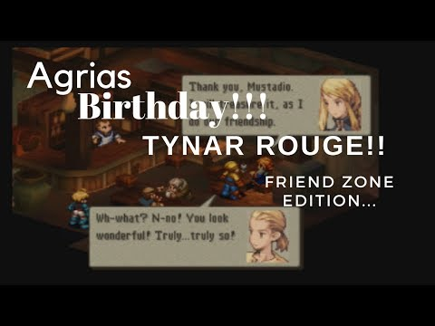 Final Fantasy Tactics WOTL Agrias BIRTHDAY! Tynar Rouge