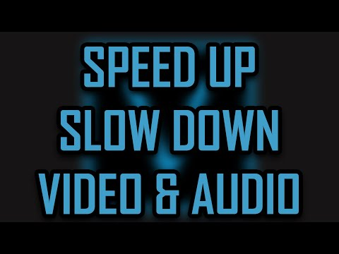 Sony Vegas Pro 11 - How to Speed Up and Slow Down a Video/Clip/Audio