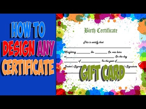 How to design any Certificate Gift card and sale it on fiverr | Fiverr Gigs Ideas