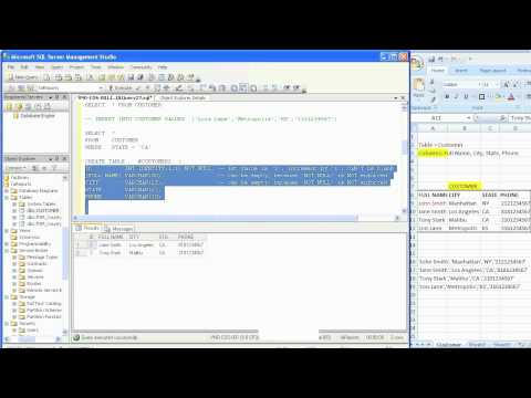 SQL Basics in 30 Minutes - Part 2: Create Tables and Variables and more
