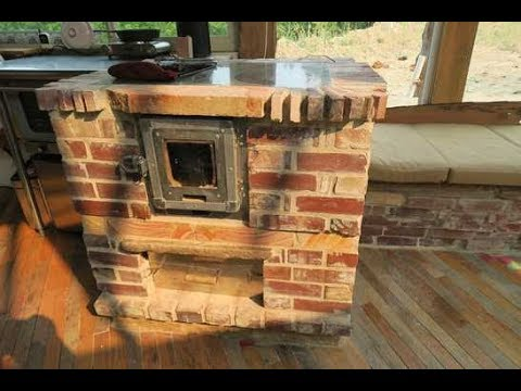 Tiny Masonry Cook Stove for Heating, Cooking, Hot Water