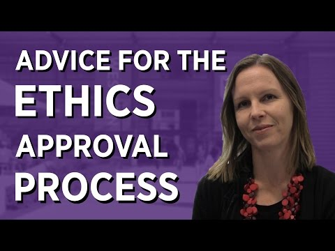 Advice for the Ethics Approval Process