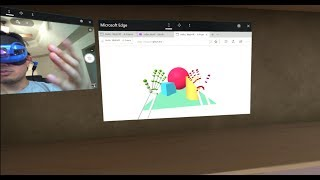 Leap Motion and Microsoft Mixed Reality Headset and Edge Browser