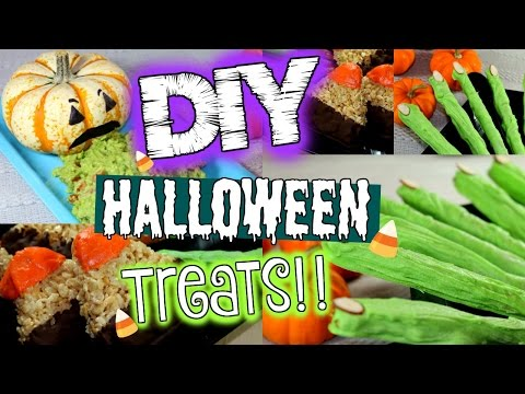 DIY HALLOWEEN TREATS   3 Easy Halloween Treat Ideas!!