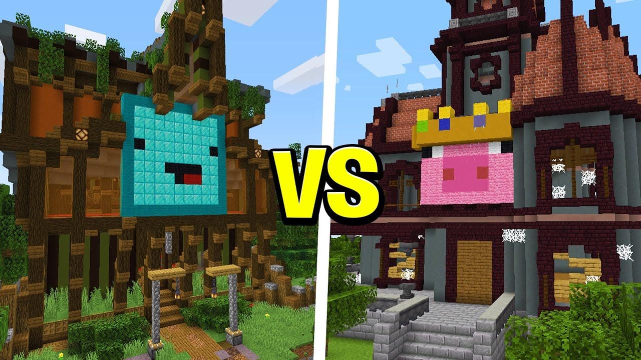 Technoblade VS Skeppy: Build Battle Competition - Minecraft