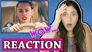 Miley Cyrus, Mark Ronson - Nothing Breaks Like a Heart (Official Video)   REACTION