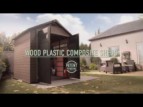Композитный деревянно-пластиковый сарай Wood Plastic Composite Shed  Keter FUSION sheds