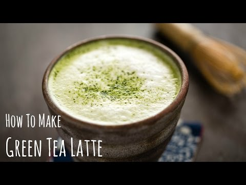 How to Make Matcha Latte (Green Tea Recipe) 抹茶ラテの作り方(レシピ)