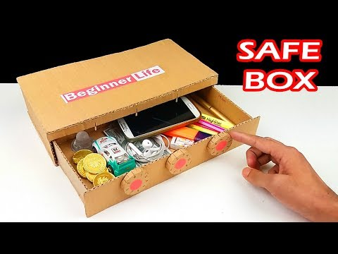 How to Make Safe Box with Combination Lock from Cardboard