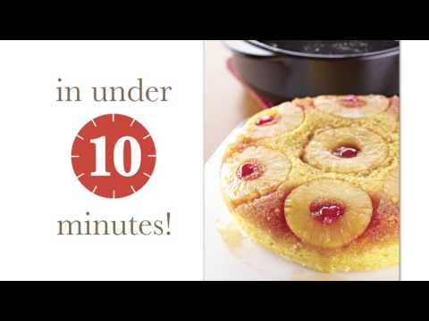 RockCrok Quick Pineapple Upside Down Cake: Pampered Chef Recipe