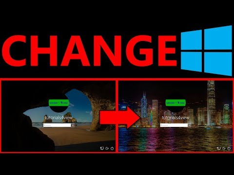 How to change the login screen background in Windows 10 - Tutorial