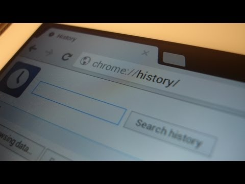 Looking at & deleting browsing history in Chrome on the Galaxy Note 10.1