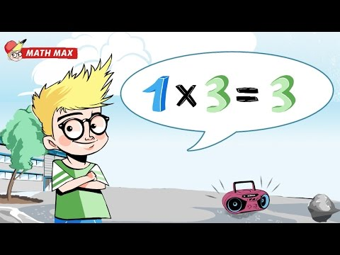 3 Times Tables - Learn your Facts the Fun Way | Math Max: Multiplication Table Songs