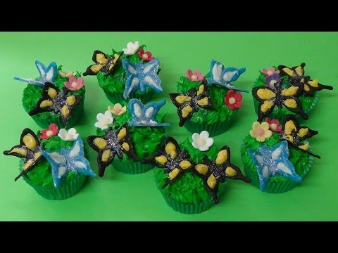 how to make chocolate butterflies cupcakes