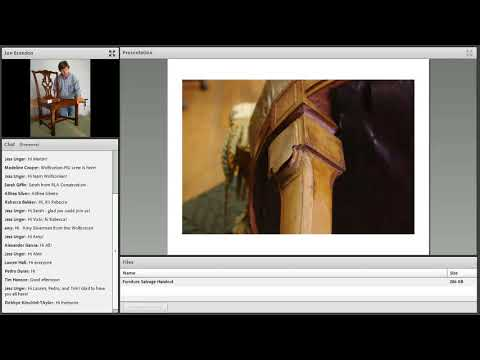 Miami Heritage Responders Webinar #8: Wooden and Upholstered Furniture Salvage