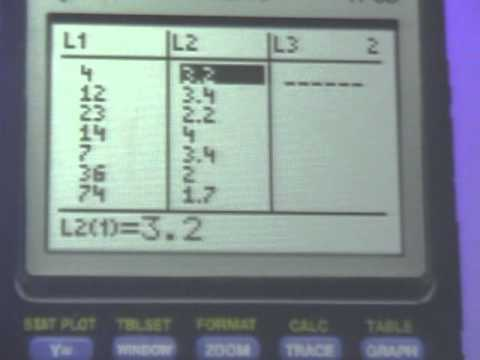 TI 84 83 Regression line and residuals
