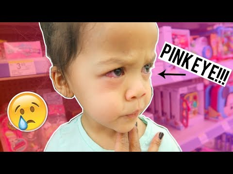A DAY IN THE LIFE OF A SINGLE MOM OF 2 | TODDLER PINK EYE INFECTION!
