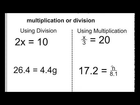 1 step equations - using multiplication and division to solve