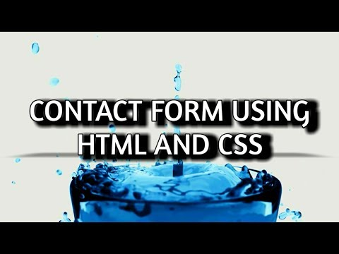 How to create contact form using html and css