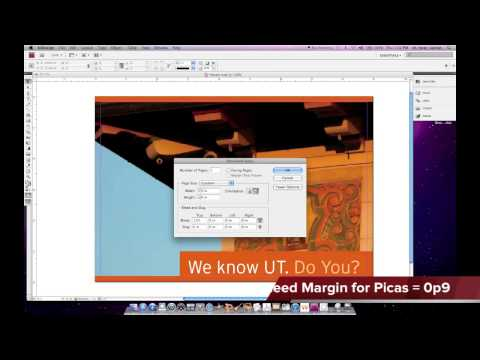 Adobe InDesign CS5 - Bleeds and PDF Exporting Proceedures Including Crop Marks and Bleed.