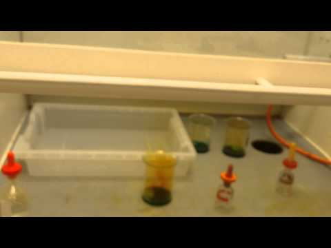 dissolving copper coin in nitric acid
