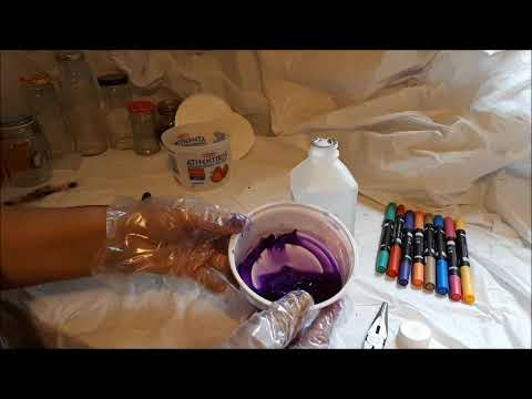 How to make spray inks from Sharpies, Easter Egg dye and Fabric dye pens