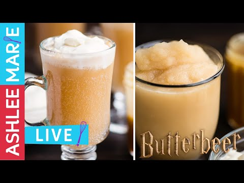 LIVE - Homemade Butterbeer recipes and taste testing - 4 recipes 3 ways - traditional, frozen & warm