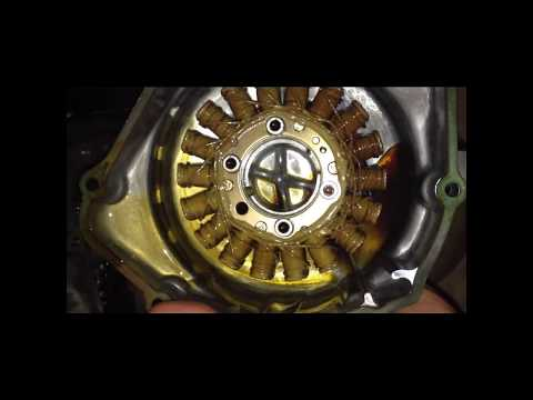 Motorcycle battery keeps dying? How to check your stator (alternator) on a Honda CBR600 F3