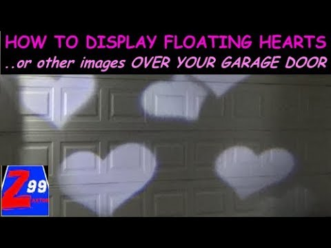 Floating Hearts or Other Images Displayed All Over Your Outside Wall or Garage CHEAP!