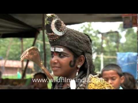 Boy in lord Shiva's costume