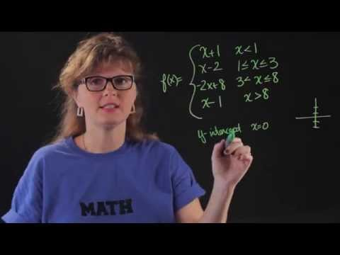 How to Find Intercepts of a Piecewise Function