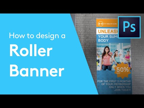 How To Design A Roller Banner In Adobe Photoshop | Solopress Tutorial