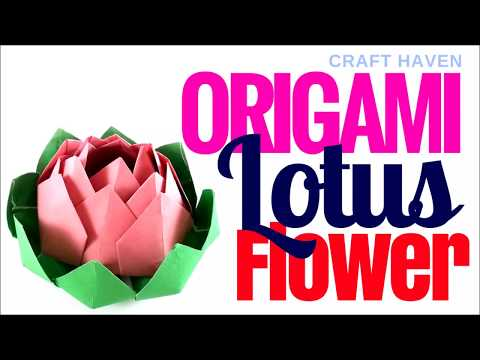 Origami Lotus Flower ♥︎ How To Make Easy Origami Paper Flower For Beginners ♥︎ DIY Instructions