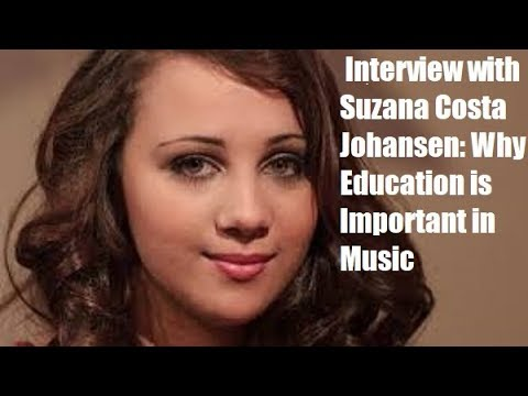 Suzana Costa Johansen of The Voice Norway: Why Music Education Is Important