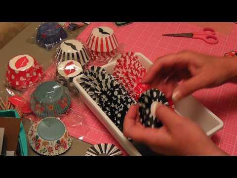Cupcake liner rosettes tutorial