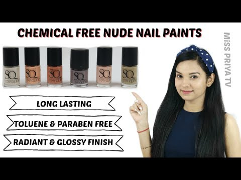 Chemical Free Nude Nail Paints Under Rs. 100 | SWATCHES | STAY QUIRKY |Miss Priya TV |