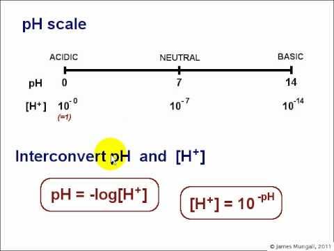 2. Acid base chemistry - The pH Scale