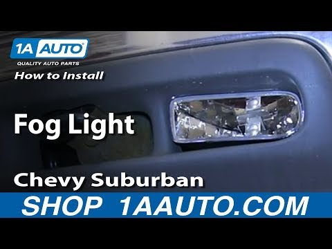 How To Install Replace Fog Light 2000-06 Chevy Suburban