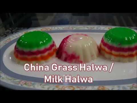 Colourful China Grass Halwa | Agar Agar Recipe | China Grass Pudding | Ramazan Special